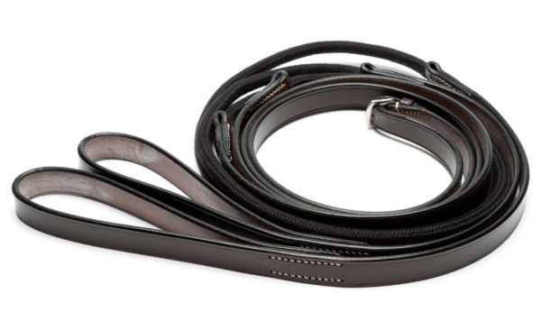 Rope and leather Running Reins