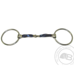 Square twisted snaffle loose ring